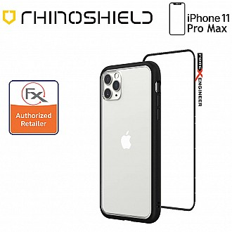 Rhinoshield MOD NX for iPhone 11 Pro Max with Rim, Button, Frame, Clear Back Plate -  Black Color