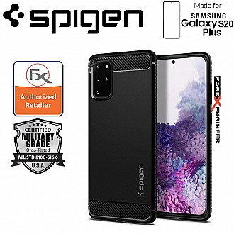 "Spigen Rugged Armor for Samsung Galaxy S20+ / S20 Plus 6.7"" - Matte Black Color"