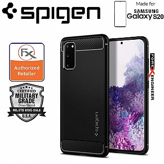 "Spigen Rugged Armor for Samsung Galaxy S20 6.2"" -  Matte Black Color"