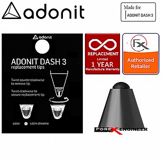 Adonit DASH 3 REPLACEMENT TIP for Dash 3 Fine Point Stylus Black and Bronze Pen
