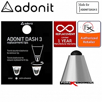 Adonit DASH 3 REPLACEMENT TIP for Dash 3 Fine Point Stylus Silver Pen