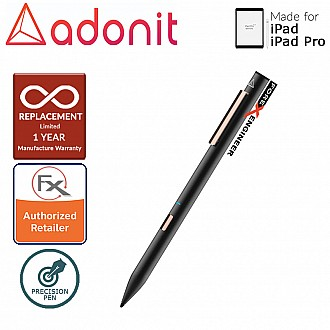 Adonit Note Stylust Pen - Almost same with Apple Pencil - For latest iPad / iPad Pro - Black