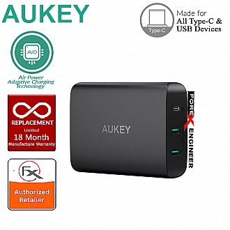 Aukey 72W USB-C with Power Delivery 3 Port Wall Charger UK Plug (PA-Y12)