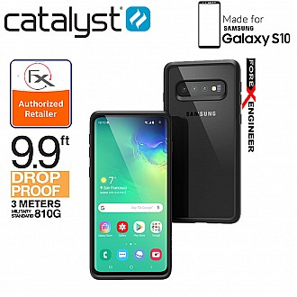 Catalyst Impact Protection Case for Samsung Galaxy S10 - Heavy Duty Drop Proof (3 meters) with Slim Design - Stealth Black