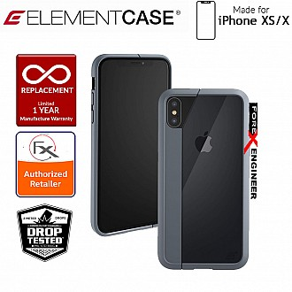 Element Case Illusion for iPhone Xs / X - Military Spec Drop Protection - Grey