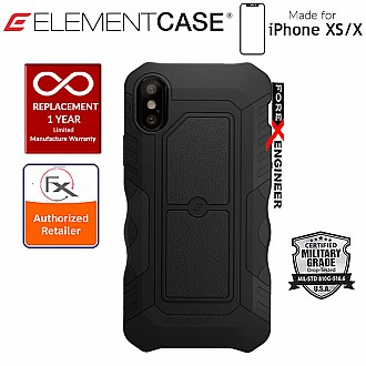 Element Case Recon for iPhone X / Xs - Military Grade Drop Proof Protection Case - Black