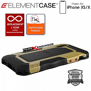 Element Case Recon for iPhone X / Xs - Military Grade Drop Proof Protection Case - Coyote