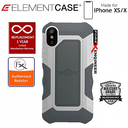 Element Case Recon for iPhone X / Xs - Military Grade Drop Proof Protection Case - White