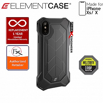 Element Case Rev for iPhone Xs / X - 3 meters Drop Proof Protection - Black