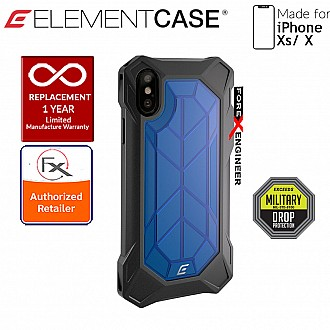 Element Case Rev for iPhone Xs / X - 3 meters Drop Proof Protection - Blue