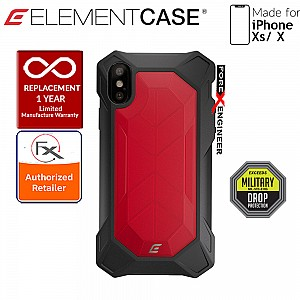 Element Case Rev for iPhone Xs / X - 3 meters Drop Proof Protection - Red