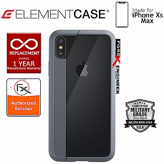 Element Case Illusion for iPhone Xs Max - Military Spec Drop Protection - Grey