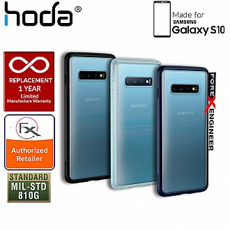 HODA ROUGH Military Case for Samsung Galaxy S10 - Military Drop Protection - Black