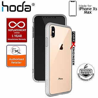 Hoda Crystal Case for iPhone Xs Max - Military Standard Protection - Matte Side