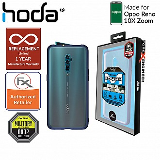 Hoda Rough Military Case for  OPPO Reno 10X Zoom - Military Drop Protection - Dark Blue