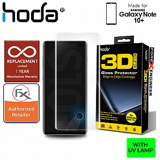 Hoda Screen Protector for Samsung Galaxy Note 10+ / Note 10 Plus - 3D Full UV Glue Tempered Glass ( WITHOUT UV LIGHT)