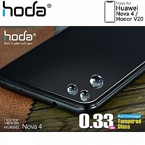 Hoda Tempered Glass Screen Protector for Huawei Nova 4 / Honor V20 - 2.5D 0.33mm Full Coverage Screen Protector