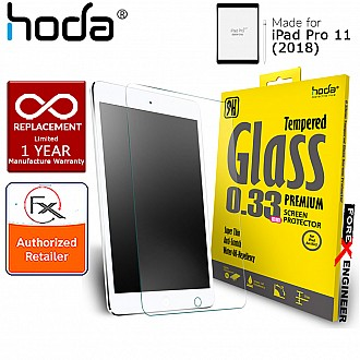 Hoda Tempered Glass Screen Protector for iPad Pro 11 inch ( 2018 ) - 0.33mm Full Coverage Screen Protector