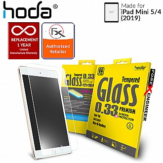 Hoda Tempered Glass for iPad Mini 5 (2019) and iPad Mini 4 - 2.5D 0.33mm Full Coverage Screen Protector