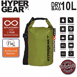 HyperGear Dry Bag 10L - IPX Waterproof Specification - Army Green