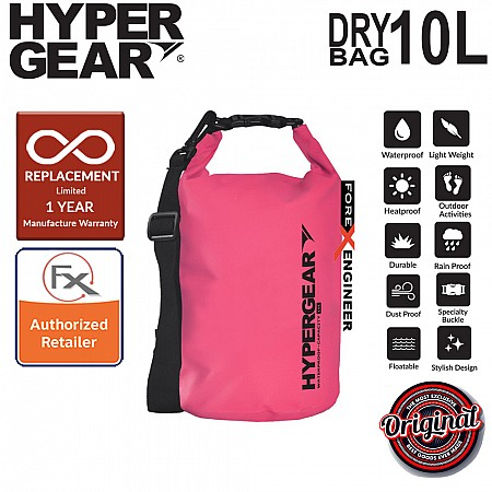 HyperGear Dry Bag 10L - IPX Waterproof Specification - Vibrant Pink