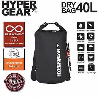 HyperGear 40L Dry Bag - IPX6 Waterproof Specification - Black