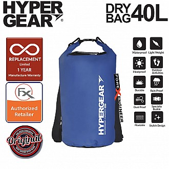 HyperGear 40L Dry Bag - IPX6 Waterproof Specification - Blue