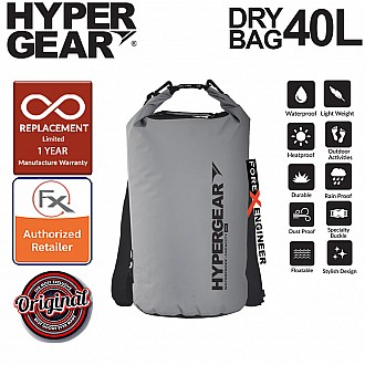 HyperGear 40L Dry Bag - IPX6 Waterproof Specification - Grey