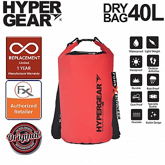 HyperGear 40L Dry Bag - IPX6 Waterproof Specification - Red
