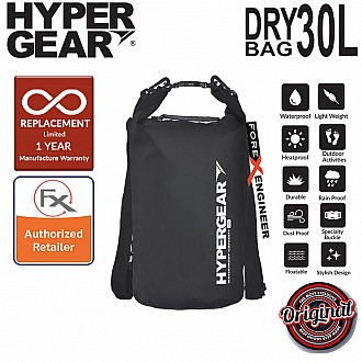 HyperGear 30L Dry Bag - IPX6 Waterproof Specification - Black
