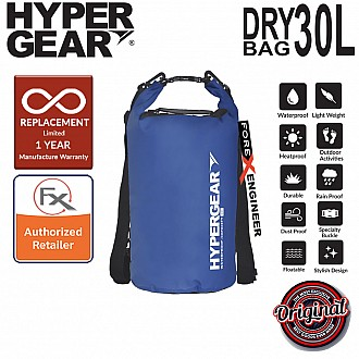 HyperGear 30L Dry Bag - IPX6 Waterproof Specification - Blue