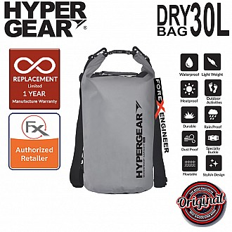 HyperGear 30L Dry Bag - IPX6 Waterproof Specification - Grey