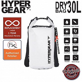 HyperGear 30L Dry Bag - IPX6 Waterproof Specification - Pearl White