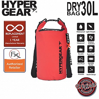 HyperGear 30L Dry Bag - IPX6 Waterproof Specification - Red