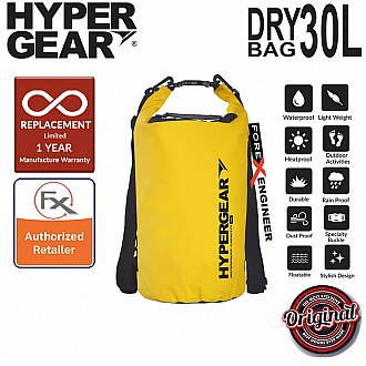 HyperGear 30L Dry Bag - IPX6 Waterproof Specification - Yellow