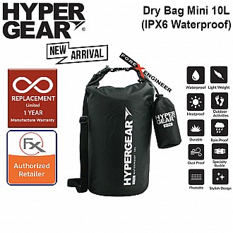 HyperGear Dry Bag Lite 10L - IPX6 Waterproof Specification - Black