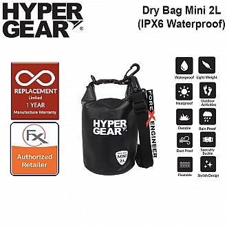 HyperGear Dry Bag Mini 2L - IPX6 Waterproof Specification - Black
