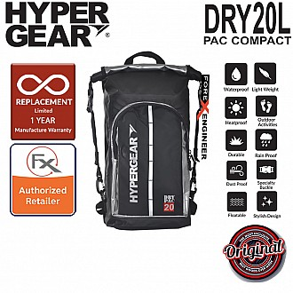 HyperGear Dry Pac Compact 20L - Waterproof and Lightweight Backpack - Silver