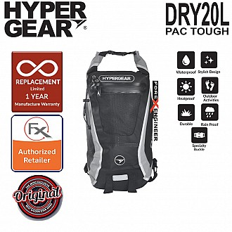 HyperGear Dry Pac Tough 20L Backpack - Black
