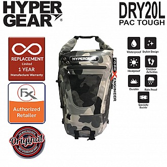 HyperGear Dry Pac Tough 20L Backpack - Camouflage Grey Alpha