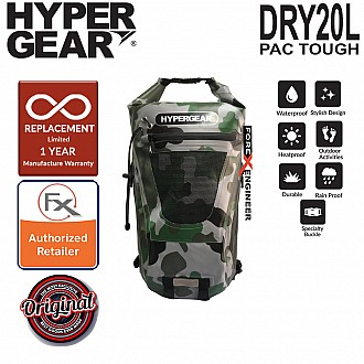 HyperGear Dry Pac Tough 20L Backpack - Camouflage Green Delta