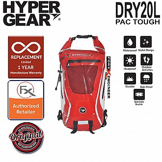 HyperGear Dry Pac Tough 20L Backpack - Red