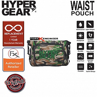 HyperGear Waist Pouch Medium - 100% Waterproof Pouch, Durable and Comfort - Camouflage Green