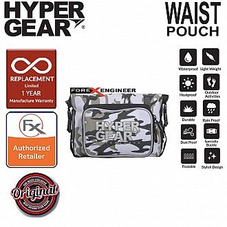 HyperGear Waist Pouch Medium - 100% Waterproof Pouch, Durable and Comfort - Camouflage White