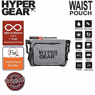 HyperGear Waist Pouch Medium  - 100% Waterproof Pouch, Durable and Comfort - Grey (Motorsport)