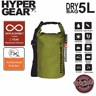 HyperGear Dry Bag 5L - IPX Waterproof Specification - Army Green