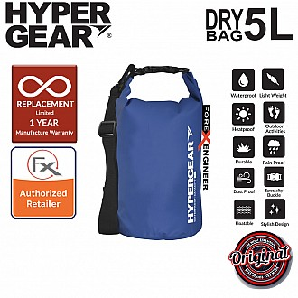 HyperGear Dry Bag 5L - IPX Waterproof Specification - Blue