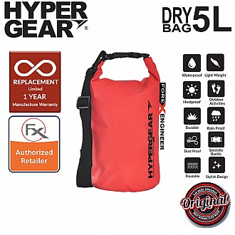 HyperGear Dry Bag 5L - IPX Waterproof Specification - Red