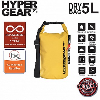 HyperGear Dry Bag 5L - IPX Waterproof Specification - Yellow