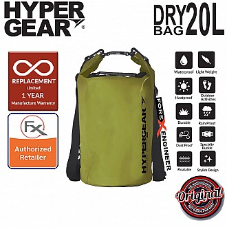 HyperGear Dry Bag 20L - IPX6 Waterproof Specification - Army Green